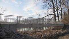 Neubau einer Fußgänger- und Radwegbrücke in Oberhausen - Rheinhausen
