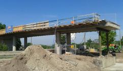 Sanierung Brücke Götzenweg, Straßenbahnneubaustrecke Thon - Am Wegfeld