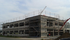 Neubau Produktionshalle mit Bürogebäude in Alzenau
